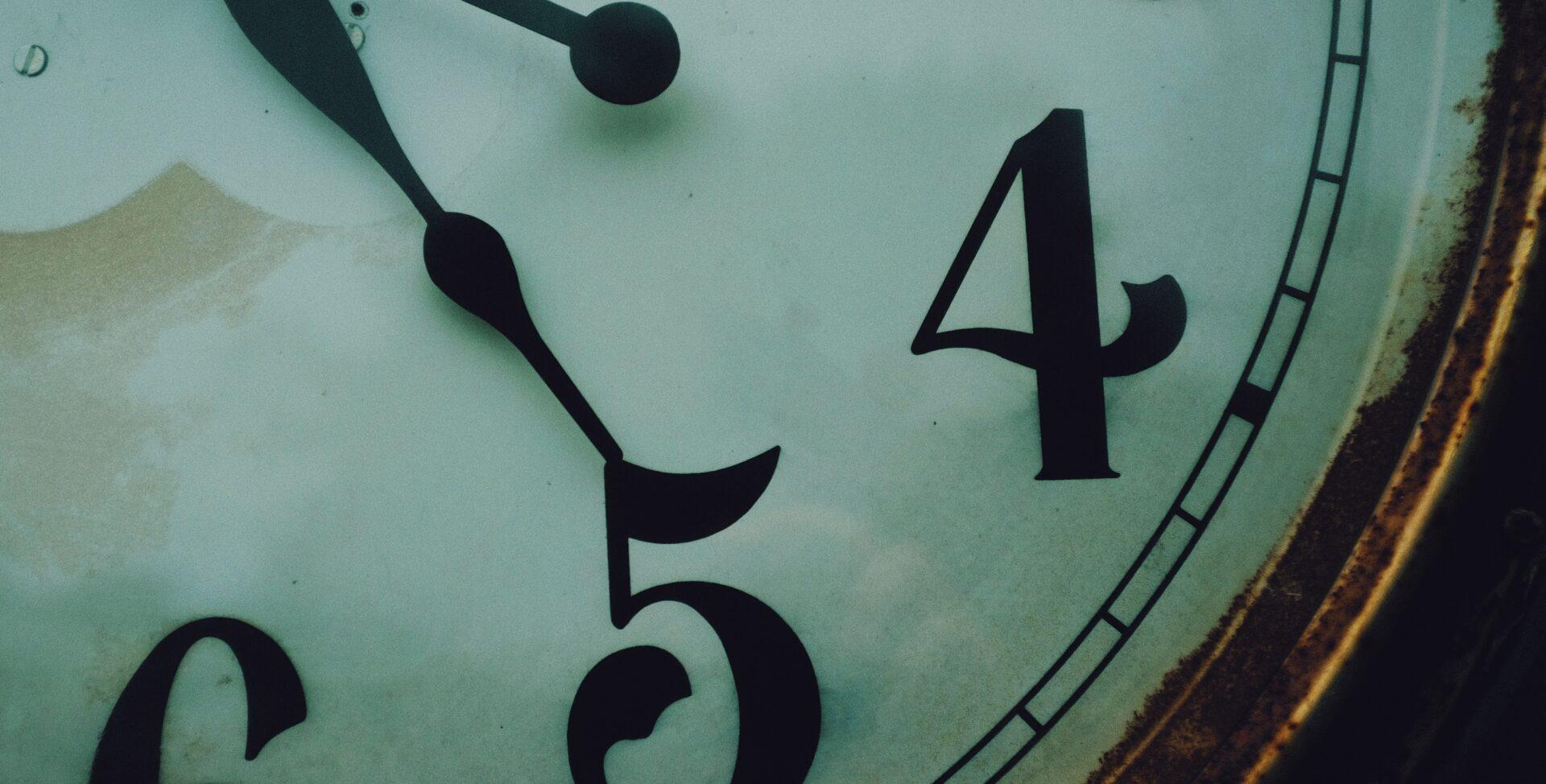 close up of an old clock